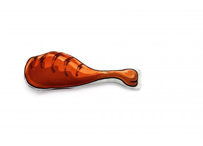 Pierna de pollo de catnip